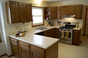 Staged Kitchen in West Lafayette Home for Sale